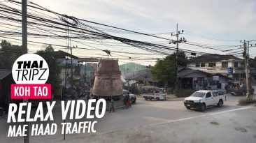 Clock Tower Intersection, Mae Haad, Koh Tao, Thailand