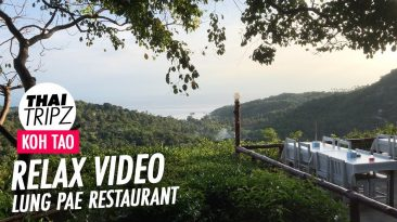 Lung Pae Restaurant, Evening view, Koh Tao, Thailand