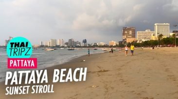 Pattaya Beach Sunset stroll - Pattaya, Thailand - THAITRIPZ