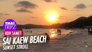 Sai Kaew Beach, Sunset stroll, Koh Samet, Thailand
